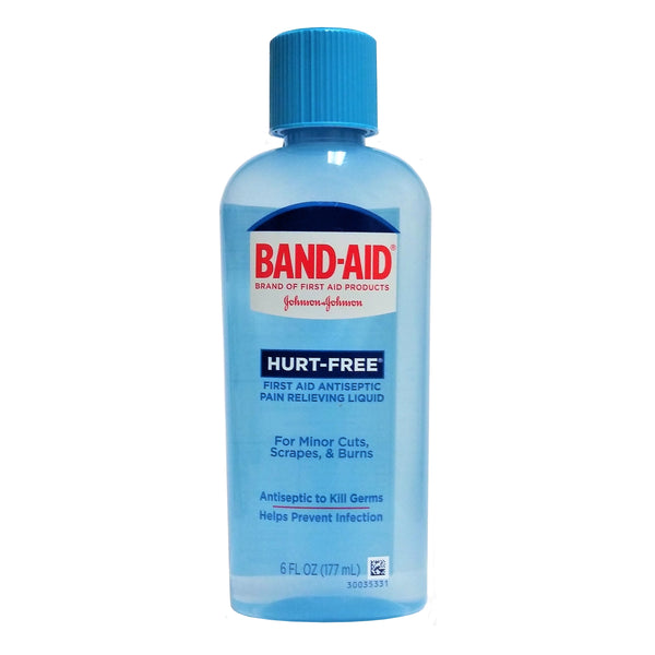 Band-Aid Hurt-Free First Aid Antiseptic Liquid, 6 Fl. Oz., 1 Bottle Each, By Johnson & Johnson