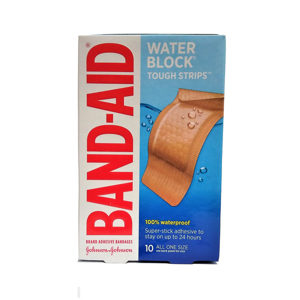 "Band-Aid Water Block Tough-Strips, 10 Waterproof All One Size 1-3/4"" x 4"" Bandages, 1 Box Each, By Johnson & Johnson"