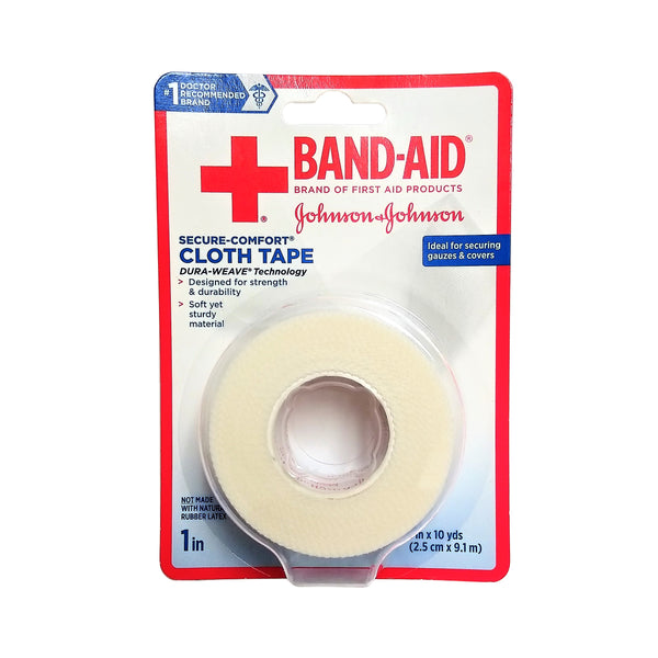 "Band-Aid Secure-Comfort Cloth Tape, 1"" x 10 Yd Roll, 1 Each, By Johnson And Johnson"