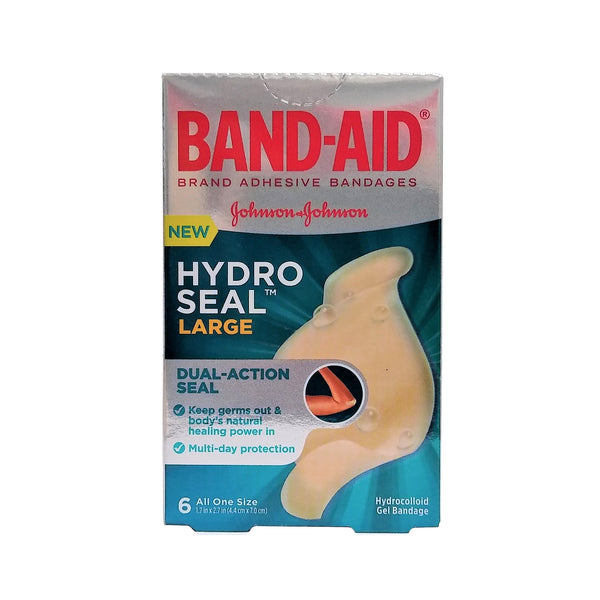 "Band-Aid Hydro Seal Bandages, All One Size Large, 1.7"" x 2.7"", 6 Ct., 1 Box Each, By Johnson And Johnson"