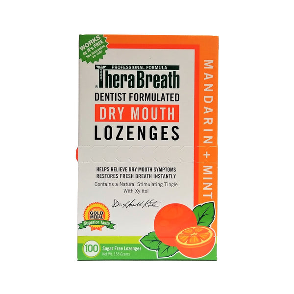 TheraBreath Dry Mouth Mint Lozenges, 100 Count, 1 Pack Each, By Dr. Harold Katz LLC