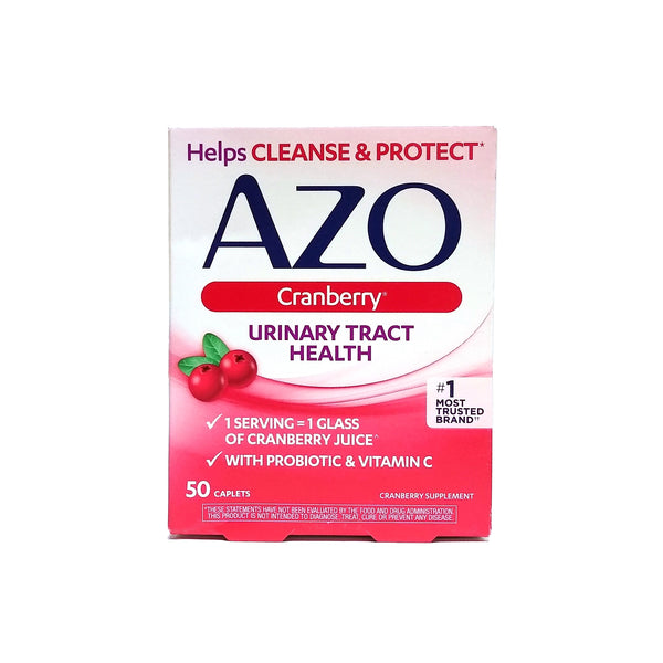 AZO Cranberry Caplets, Urinary Tract Health, Probiotic And Vitamin C, 50 Ct., 1 Pack Each, By I-Health Inc.