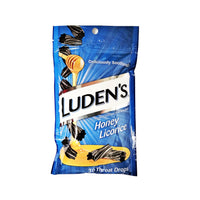 Luden's Cough Drops, Honey Licorice, 30 Count Throat Drops, 1 Pack, By Medtech Products, Inc.