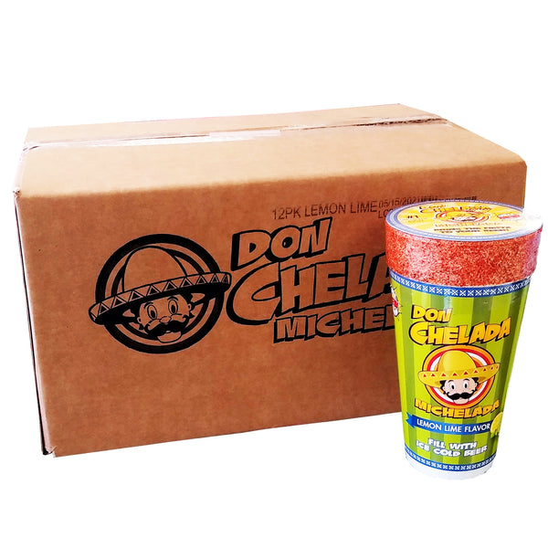 Don Chelada Michelada Lemon Lime Flavor Cup, Case Of 12, By Don Chelada