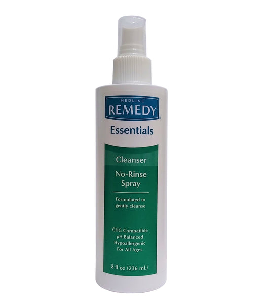 Remedy Essentials No-Rinse Cleansing Spray, 8 Fl Oz, MSC092SCSW08H, 1 Each, By Medline