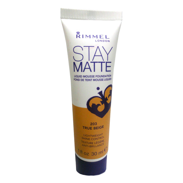 Rimmel Stay Matte Foundation, True Beige 203, 1 Oz., 1 Each, By Coty