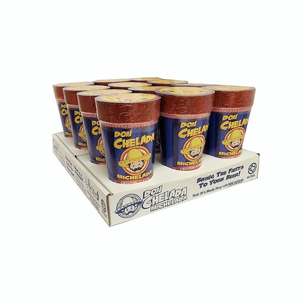 Michelada Beer Cups, Original Flavor, 12 Count, 1 Pack Each, By Don Chelada