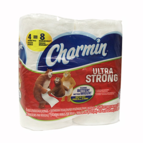 Charmin Ultra Strong Bathroom Tissue, Double Roll 4 Pack, 1 Each, By P&G