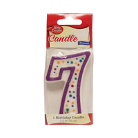 Betty Crocker #7 Birthday Candle, 1 Each, By Signature