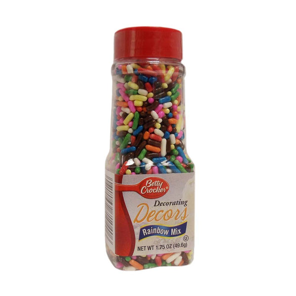 Betty Crocker Decorating Decors, Rainbow Mix, 1.75 Oz., 1 Each, By Signature