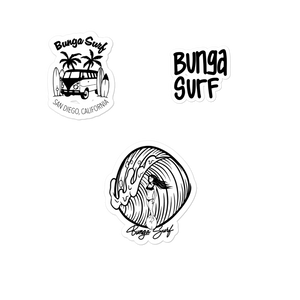 Black & White Sticker Pack - Bunga Surf
