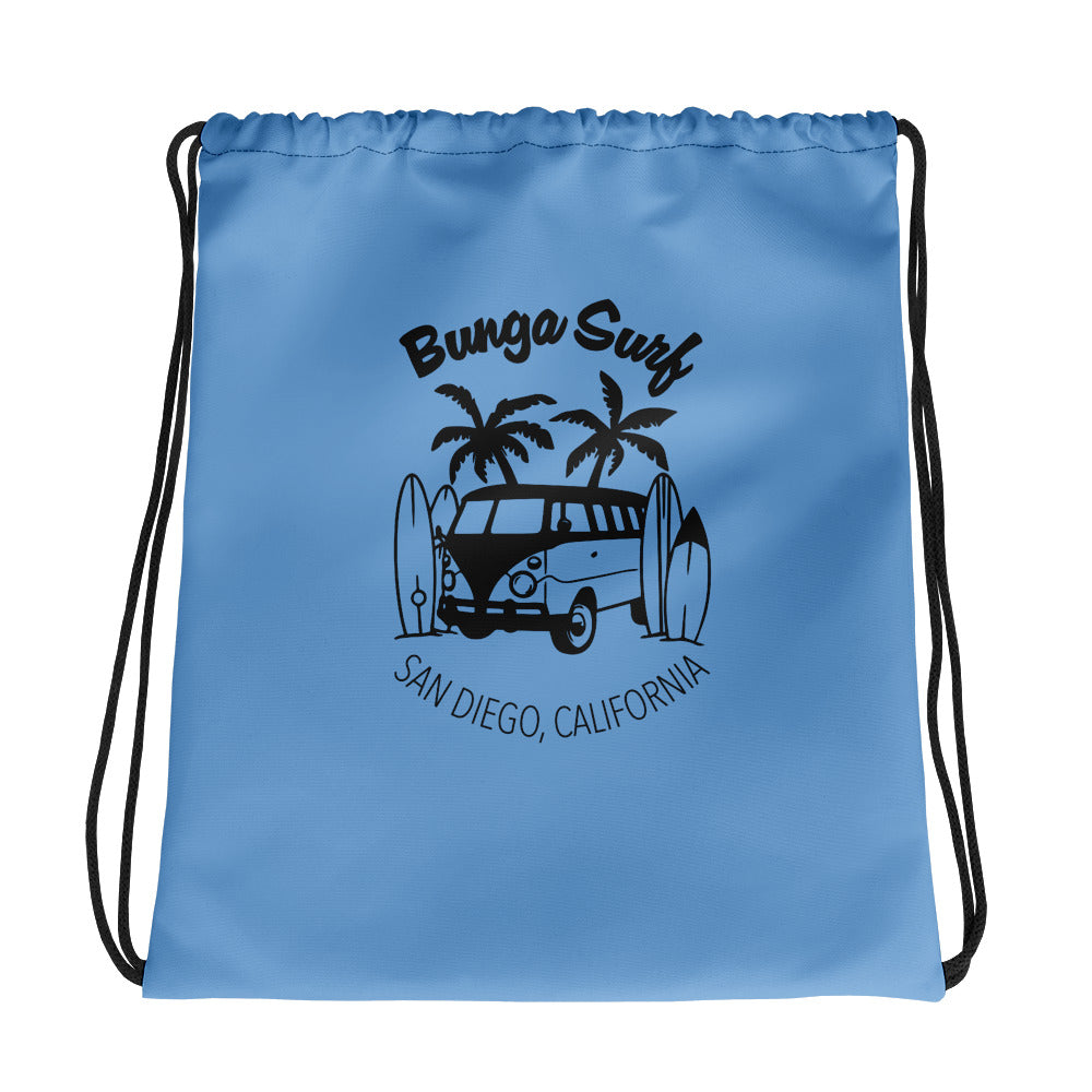 Bunga Surf Blue Drawstring bag - Bunga Surf