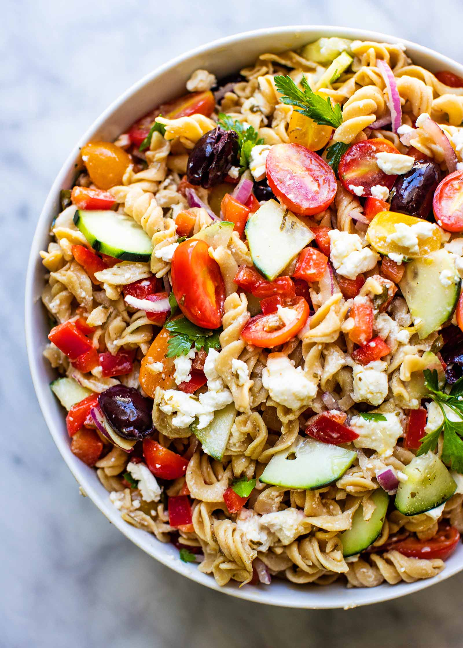 Refreshing Greek Pasta Salad For Summer