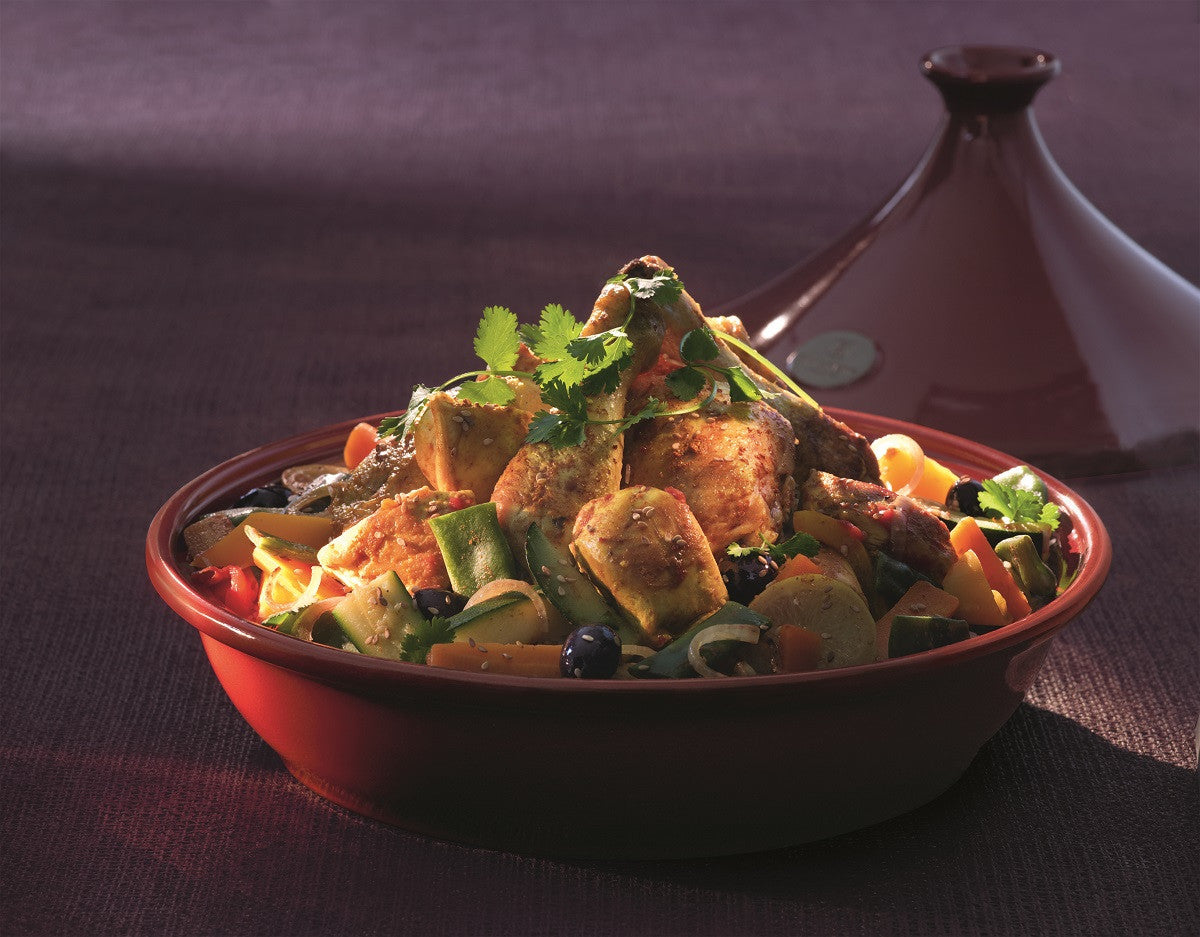 One of Our Favourite Recipes; Chicken Tagine with Lemon, Honey, Olives and Fresh Vegetables