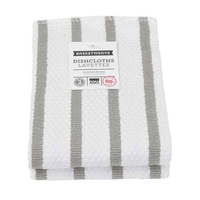 Now Designs Basketweave Dish Cloth, London Grey