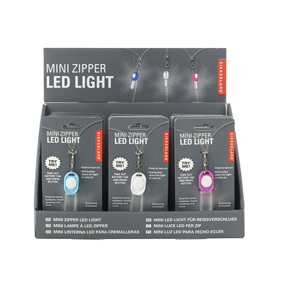 Kikkerland Mini LED Zipper Light, Assorted