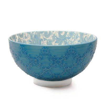 Blue, Bia Trellis Serving Bowl