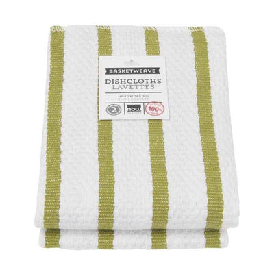 Now Designs Basketweave Dish Cloth, Cactus