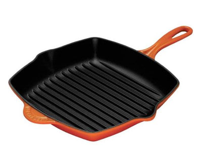 Flame le creuset square skillet grill