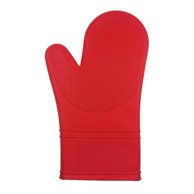 Kitchen Basics 12'' Silicone Oven Mitt, Red