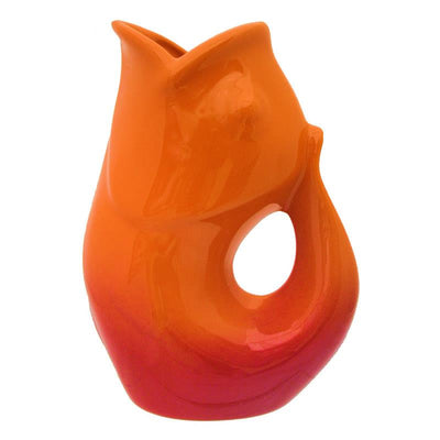 Ombre Red GurglePot Porcelain Fish Shaped Pithcer