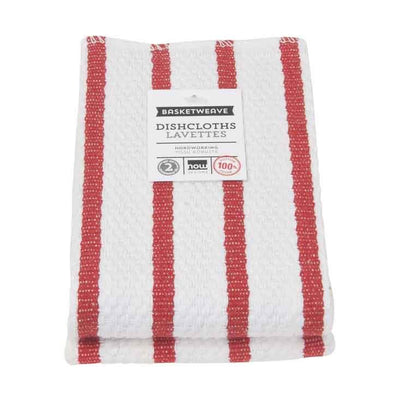 Now Designs Basketweave Dish Cloth, Red