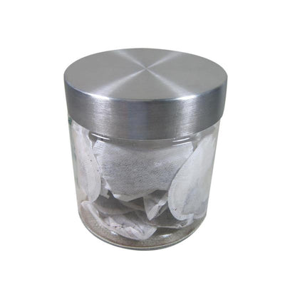 Port-Style Glass Canister with Stainless Steel Lid 800ml