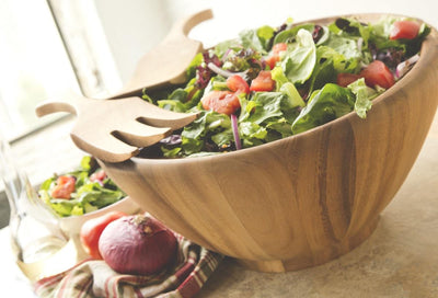 Ironwood Extra Large Acacia Wood Salad Bowl