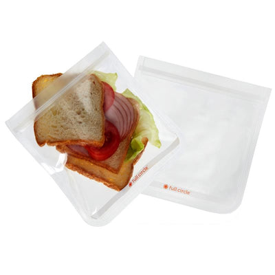 Full Circle Ziptuck Reusable Sandwich Bags Set/2