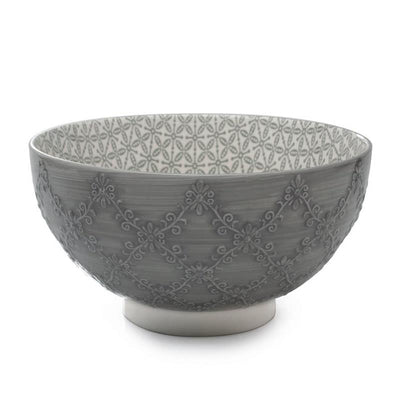 Grey, Bia Trellis Serving Bowl