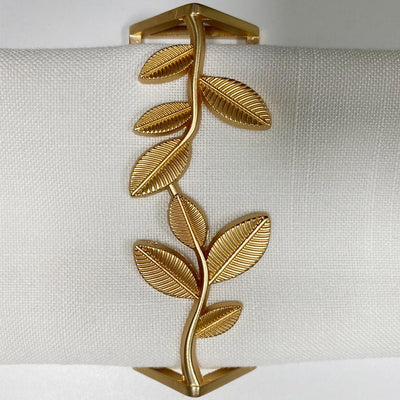 Brilliant Flat Vintage Gold Napkin Ring Set of 4