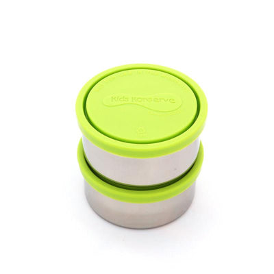 U Konserve Stainless Steel Round Food with Green Lid