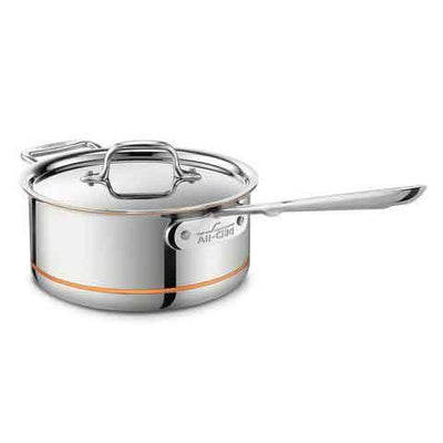all-clad copper core sauce pan with lid 3qt