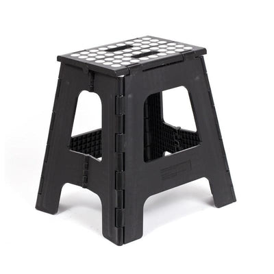 Kikkerland Step Stool Folding Tall, Black