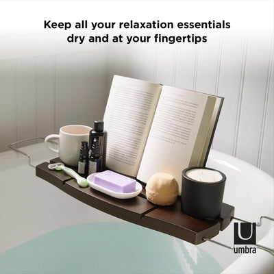 Umbra Aquala Bathrub Caddy, Walnut