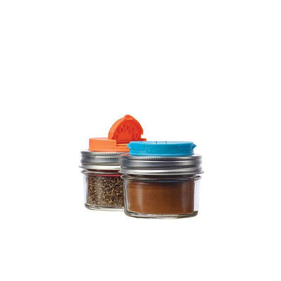 Jarware Spice Lid Set of 2, Blue and Orange