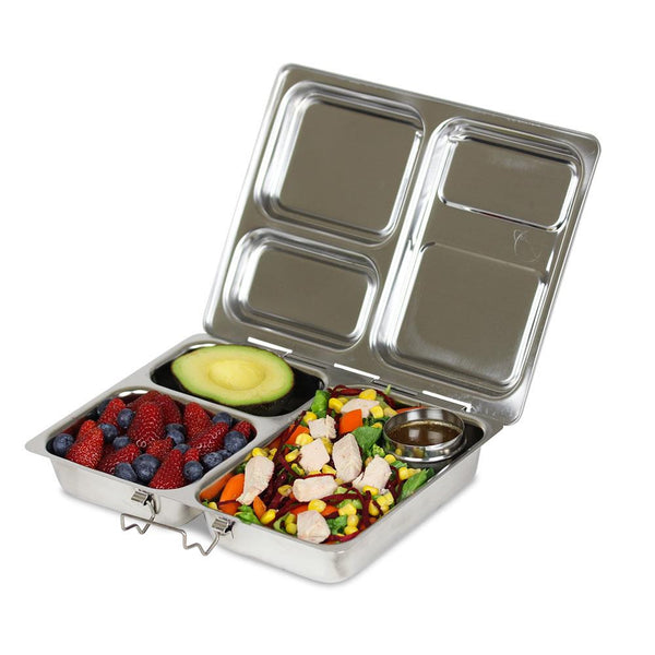 A Kitchen Is Launching An Express Lunch Service: PlanetBox Launch Stainless Steel Lunch Box