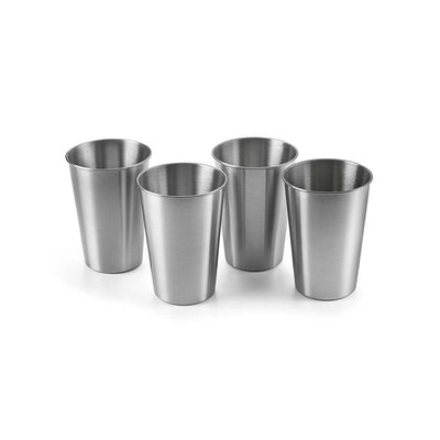 Outset Stainless Steel Beer Glasses Set of 4