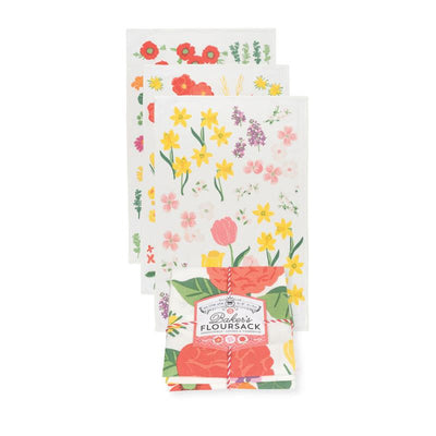 Now Designs Floursack Tea Towel, Flowers On the Mont
