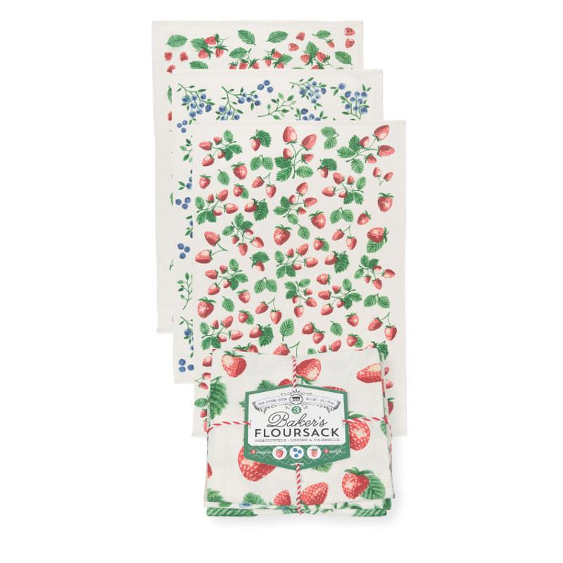 Now Designs Berry Patch Baker's Floursack Tea Towel Set
