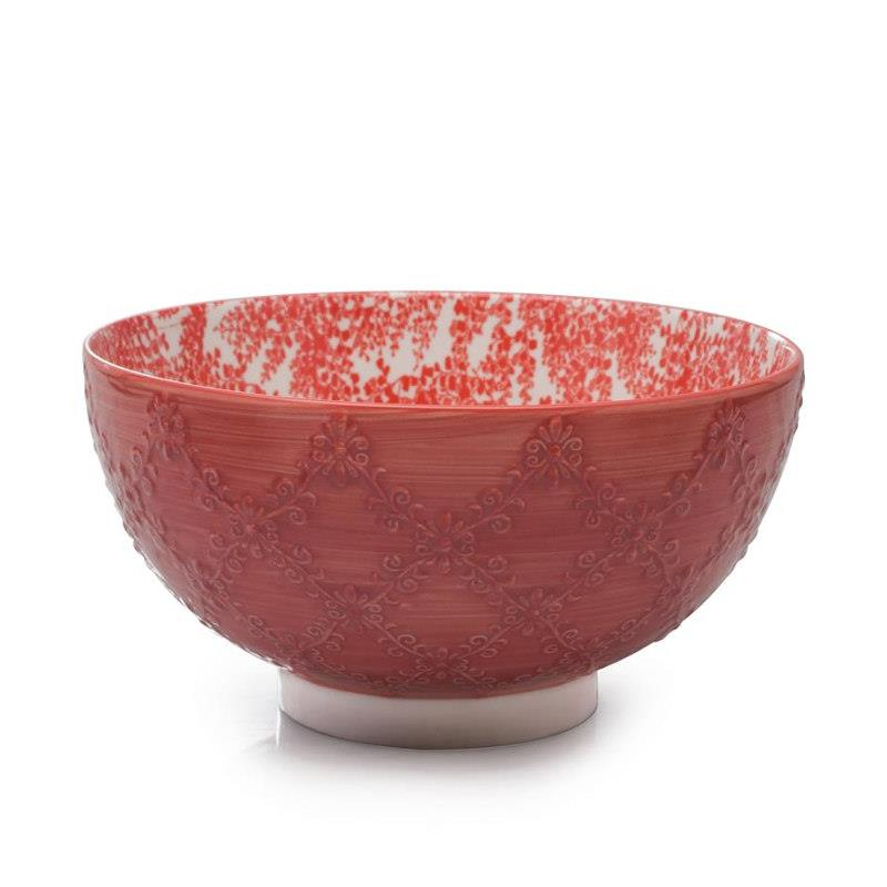 Red, Bia Trellis Serving Bowl