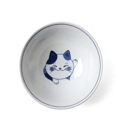 "Miya Light Blue Cat Bowl - 7.5""!"