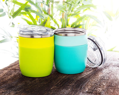 Bevi Insulated Tumbler With Flip Top Lid - Turquoise