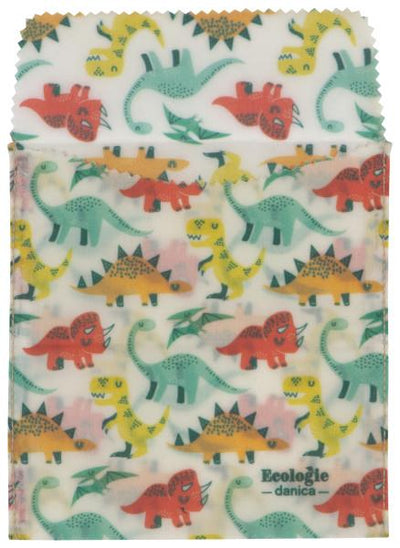 Now Designs Dandy Dino Beeswax Sandwich Bags Set of 2