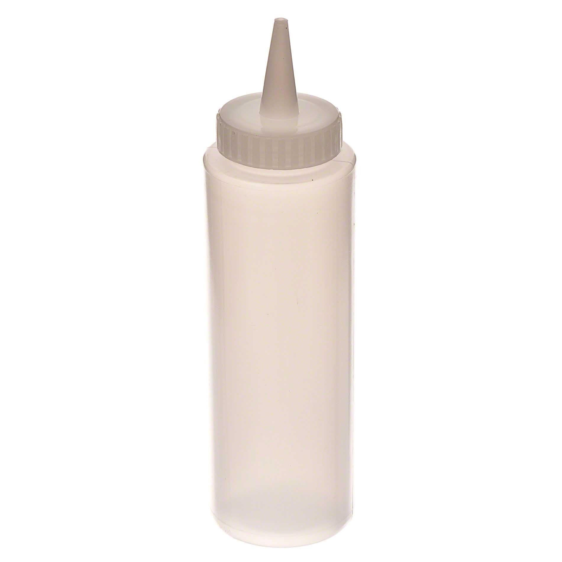 Browne 8oz Clear Squeeze Bottle