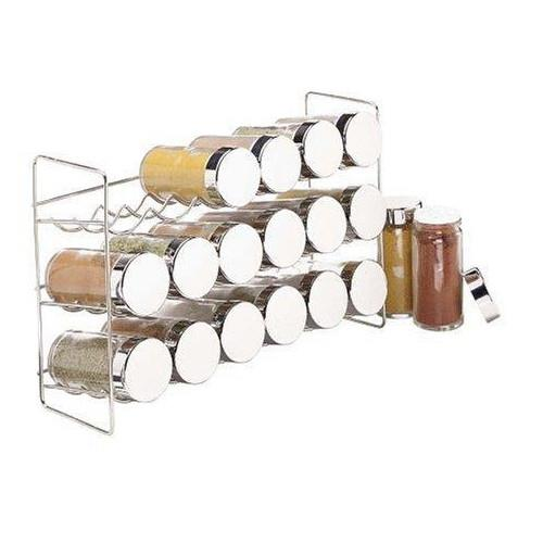 Polder 18-Bottle Chrome Spice Rack