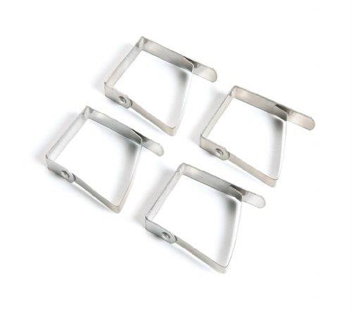 Fox Run Stainless Steel Tablecloth Clips, Set of 4
