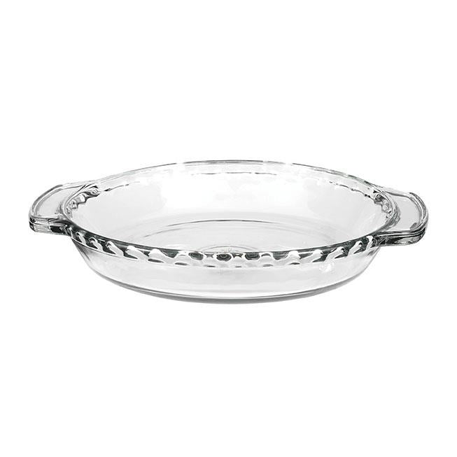 Anchor Hocking Glass Deep Pie Dish, 9in