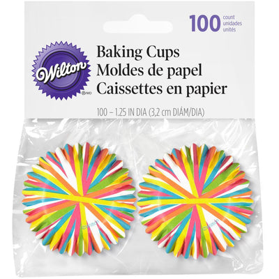 Wilton 100 Count Mini Baking Cups, Colour Wheel