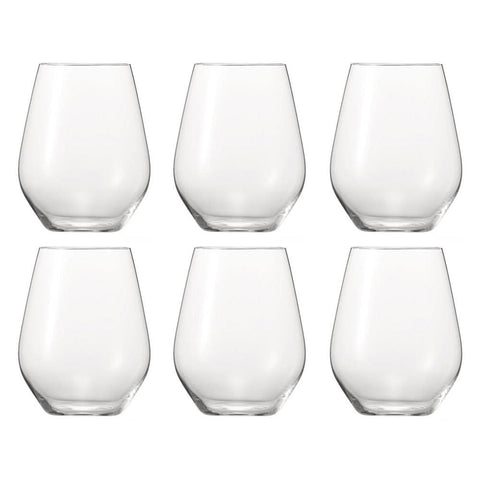 Spiegelau Authentis Stemless Wine Glass Set of 6